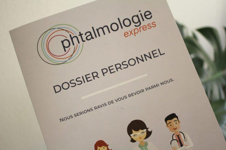 pochette patient Optalmologie Express