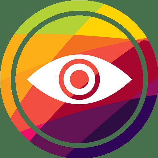 image d'un graphisme d'un oeil avec plusieur couleur