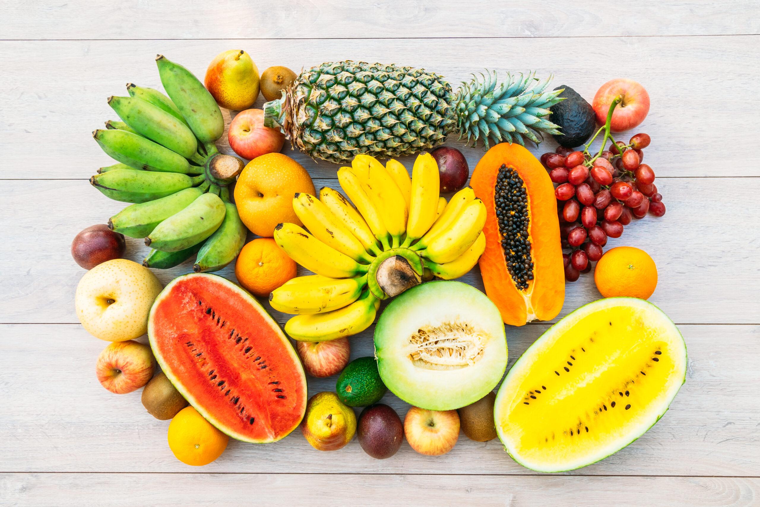 Photo d'une mixture de fruit